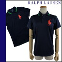 Ralph Lauren RALPH LAUREN polo shirt 0472771 cotton women's US OPEN