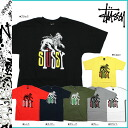 ステューシー STUSSY short sleeves T-shirt STUSSY S S Tee Flag Lion Tribe cotton men