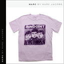 Point 2 x mark by Mark Jacobs MARC BY MARC JACOBS short sleeve T shirt [purple] INNVICT TEE cotton men's [regular]