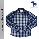 Abercrombie & Fitch Abercrombie &Fitch long sleeve button shirt with 125-135-0030-027 cotton mens vintage MUSCLE