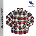 Abercrombie & Fitch Abercrombie &Fitch long sleeve button shirt with 125-168-0512-009 check MUSCLE cotton men's vintage