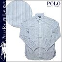 Shock price ★ point 10 times polo Ralph Lauren POLO by RALPH LAUREN long sleeves button shirt [light blue] 1029932CFW stripe cotton men [regular]