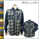 HAPPY SALE ★ artisan Deluxe ARTISAN DE LUXE long sleeve denim shirt [Indigo] AMS191F82 BOLDER PLAID SHIRT denim cotton men's [regular] 02P01Jun14