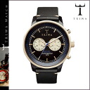 Tri TRIWA×Tarnsjo watch NEAC 112 NEVIL leather mens Womens black x Gold
