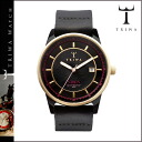 Tri TRIWA watches NIAC 103 NIVEN leather mens Womens black x Gold