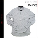 Shock price ★ point 10 times John Baru Bate's JOHN VARVATOS shirt [gray] 28V0107057 SLIM FIT Y shirt cotton men [regular]