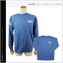 Mark by MARC BY marc jacobs MARC BY MARC JACOBS long sleeves T-shirt [blue] HUG CLUB LONG SLEEVE TEE cotton men [regular]