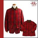 Cotton men's doubles Aurel RRL DOUBLE RL Ralph Lauren button jacket [Red] 7259387 RPM [genuine]