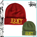 Point 10 times ステューシー STUSSY knit cap beanie [red green] STUSSY ARMY CUFF BEANIE acrylic men [regular]