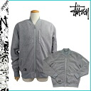 Stussy STUSSY zip up jacket 0150130 POLAR MA1 polyester men's