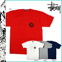 Stussy STUSSY short sleeve T shirt Rasta Roots Tee cotton mens red white grey Navy