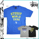 Stussy STUSSY short sleeve T shirt Tribe Sax Man Tee cotton mens