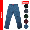 シュプリーム Supreme corduroy underwear [5 colors] FW12P9 CORDUROY WORK cotton men antique blue-green black Marron gray [regular] 02P31Aug14