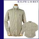 1020689 Ralph Lauren RALPH LAUREN long sleeves button-down shirt [yellow X black] LONG SLEEVE CUSTOM BUTTON downed cotton men [regular]