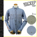 Closing sale point 10 x 10 DEEP deep transcontinetal button-down shirt [Indigo ニテビジョン] 31TD3011 ELBOWS IN cotton mens new 10. deep [genuine]