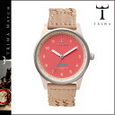 Thoria TRIWA watch [CORAL] LOAC109 CORAL LOMIN Tarnsjo leather men gap Dis latest Coral unisex [regular]