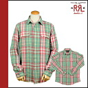 Double Aurel RRL DOUBLE RL Ralph Lauren long sleeve button shirt with 7959494 RRWA check flannel shirt cotton mens