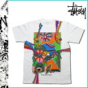 Stussy TANAAMI STUSSY×KEIICHI short sleeve T shirt STUSSY KEIICHI COLLAGE TEE collaboration with cotton men's 2013 new