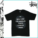 Stussy STUSSY short sleeve T shirt STUSSY WORLD FRIENDS cotton men's 2013 new