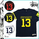 Stussy STUSSY three-quarter sleeves T shirt STUSSY 13 FOOTBALL TEE cotton men's 2013 new
