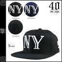 10% off ★ points two times forty ounces 40 oz 3 color NYC Snapback Cap SNAPBACK CAP Hat CAP and black men's [regular] 02P01Mar15