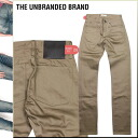 Ann buran dead THE UNBRANDED BRAND chino pants [beige] CHINO PANTS NO WASHES SKINNY FIT Kinney chinos men new work [regular]