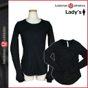 [SOLD OUT] Lulu lemon lulu lemon yoga training top [black] training suit Bira Thijs Lady's [regular]