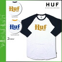 [SOLD OUT]HUF Hough three-quarter sleeves T-shirt TEE [navy mustard] Ron T T-shirt men [regular]