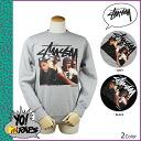 Stussy STUSSY×YO MTV RAP trainer [Black] men's Sweatshirts collabo [regular]