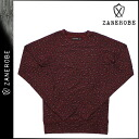 [SOLD OUT] ゼンローブ ZANEROBE long sleeve trainer [Burgundy] TRAINER men's brand [genuine]