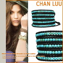 チャンルー CHAN LUU bracelet BSM-1289 TURQUISE / BLACK hand-made Leather Womens mens