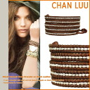 チャンルー CHAN LUU bracelet BROWN BSM-1333 RED Handmade Leather Womens mens
