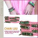 チャンルー CHAN LUU bracelet [Pink x olive, BS-2827 INDIAN ADVENTURINE Handmade Leather Womens mens [regular]