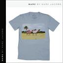Mark by Mark Jacobs MARC BY MARC JACOBS short sleeve T shirt TEE [light blue] T-SHIRT tee shirt mens [genuine]