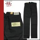 [Regular] point double denim men's doubles Aurel RRL DOUBLE RL Ralph Lauren cotton pants [Black]