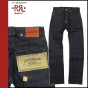 [Indigo] double Aurel RRL DOUBLE RL Ralph Lauren denim jeans blue jeans G bread straight mens ★ ★