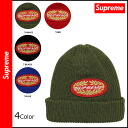 [Regular] points 10 times Supreme Supreme knit CAP in the 4 color knit Cap Hat mens