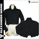 [SOLD OUT] tea by Alexander one T by ALEXANDER WANG trainer [black] shortstop length sweat shirt men [regular]