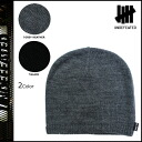 Undefeated UNDEFEATED knit CAP in black gray knit men's [regular]