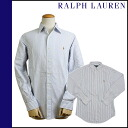Ralph Lauren RALPH LAUREN long sleeves button shirt [purple X white] SHIRT stripe men