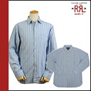 Point 10 x double Aurel RRL DOUBLE RL Ralph Lauren long sleeve button shirt blue BUTTON SHIRT men's [regular]