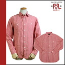 Double Aurel RRL DOUBLE RL Ralph Lauren long sleeve button shirt [Red] BUTTON SHIRT men's [regular]