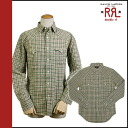 Double are L RRL DOUBLE RL Ralph Lauren long sleeves button shirt [khaki X pink] BUTTON SHIRT men [regular] 02P31Aug14
