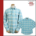 Double are L RRL DOUBLE RL Ralph Lauren long sleeves button shirt [blue] BUTTON SHIRT men