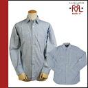 Double Aurel RRL DOUBLE RL Ralph Lauren long sleeve button shirt blue BUTTON SHIRT men's [regular]