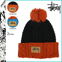 132513 point 10 times ステューシー STUSSY knit cap [the black last] beanie knit hat men [regular]