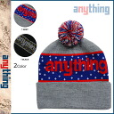 Point 10 times anything aNYthing knit cap [black gray] beanie knit hat men [regular]
