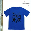 Saturday surf SATURDAYS SURF short sleeves T-shirt TEE [blue] T-SHIRT T-shirt men [regular]