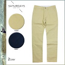 Point 10 times Saturdays surf SATURDAYS SURF Chino pants [Khaki Navy] chinos men's [1 / 23 new in stock] [regular] ★ ★ 10P01Feb14