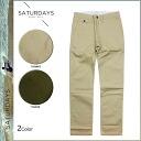 Saturday surf SATURDAYS SURF chino pants [khaki olive] chino pants men [regular]